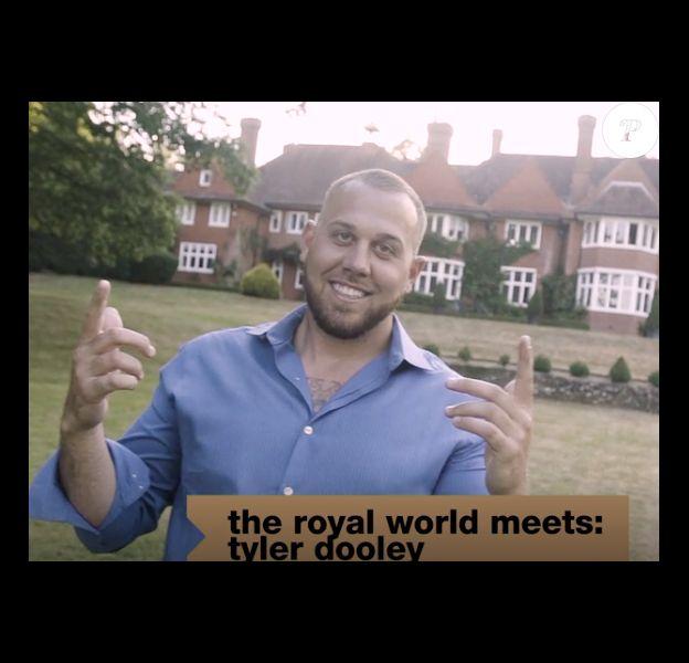 Tyler Dooley, neveu de Meghan Markle, duchesse de Sussex, dans l'émission de télé réalité The Royal World sur MTV en 2018.