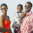 Kim Porter, P. Diddy et leur fils Christian en 2004