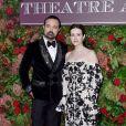 Evgeny Lebedev et Claire Foy - 64ème soirée annuelle des Standard Theatre Awards au Theatre Royal Drury Lane à Londres, le 18 novembre 2018.