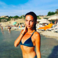 Francesca Antoniotti sexy en vacances en Corse sur Instagram. Août 2018.
