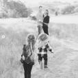 Beverley Mitchell, son mari Michael Cameron et leurs deux enfants, Kenzie et Hutton. Novembre 2018.
