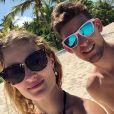 Kristina Mladenovic en vacances aux Maldives avec son compagnon Dominic Thiem (photo postée sur Instagram en novembre 2018).