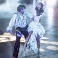 """Iris Mittenaere et Anthony Colette lors du prime """"Halloween"""" de DALS9, fin octobre 2018."""
