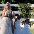 Exclusif - Kayla Rae Reid lors de son mariage avec Ryan Lochte le 9 septembre 2018 à La Quinta en Californie.
