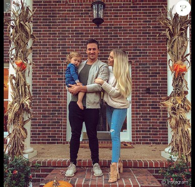Ryan Lochte, sa femme Kayla et leur fils Caiden lors de Thanksgiving en novembre 2018, photo Instagram.