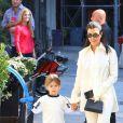 Kourtney Kardashian et son fils Reign Disick - Les Kardashians sont allés avec leurs enfants respectifs à une fête d'anniversaire privée à New York, le 30 septembre 2018