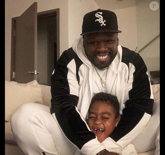 50 Cent et son fils Sire. Novembre 2018.