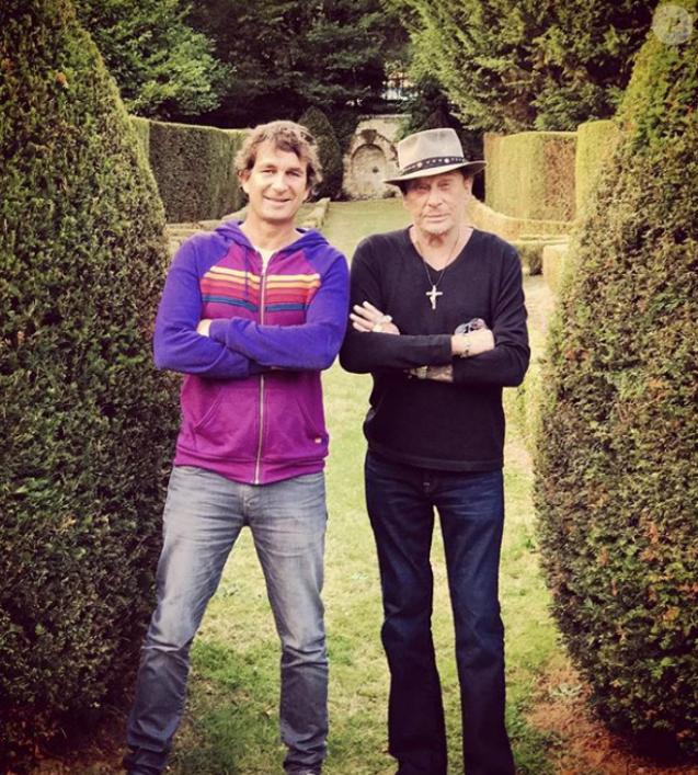 Pierre Rambaldi et Johnny Hallyday. Photo publiée en septembre 2017.