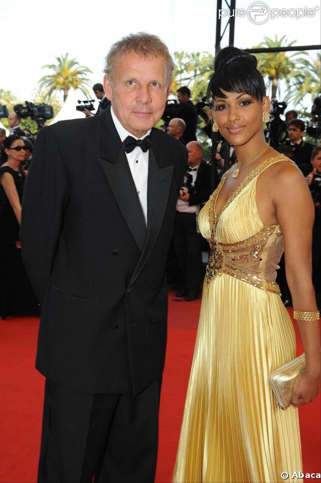 Alexandra Baldeh et PPDA au festival de Cannes. 20/05/09