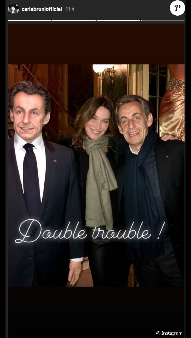 Carla Bruni et Nicolas Sarkzoy au musée Grévin le 17 décembre 2018