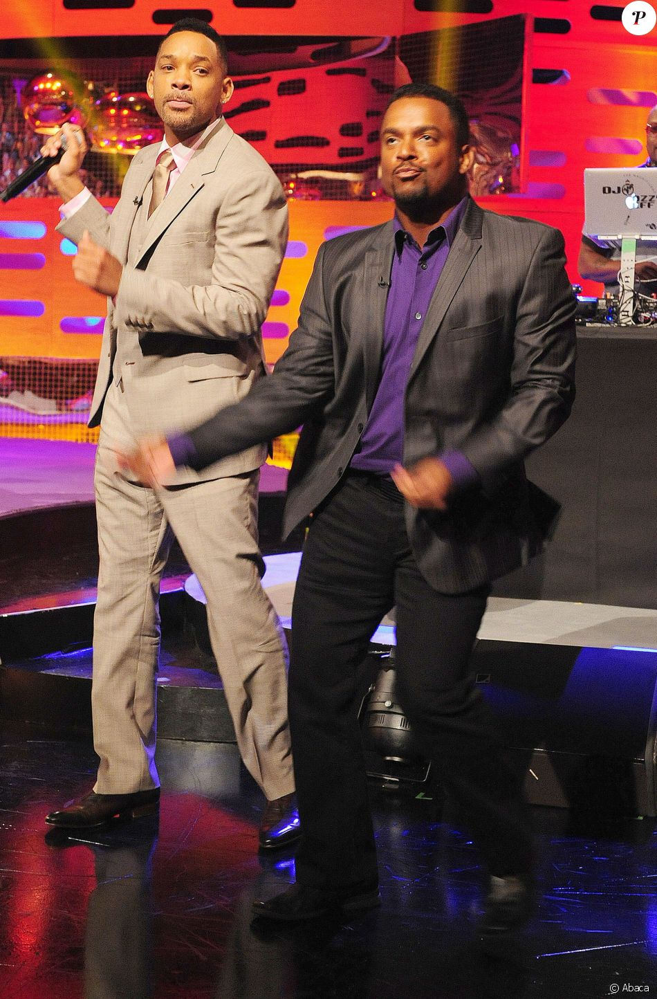 Will Smith et Alfonso Ribeiro sur le plateau du Graham North Show. Londres, mai 2013.