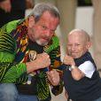 Terry Gilliam et Verne Troyer lors du photocall de L'Imaginarium du Docteur Parnassus le 22 mai 2009 dans le cadre du Festival de Cannes