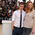 Andrew Garfield et Lily Cole lors du photocall de L'Imaginarium du Docteur Parnassus le 22 mai 2009 dans le cadre du Festival de Cannes