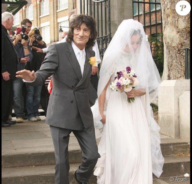 Ronnie Wood et sa fille Leah Wood