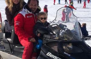 Ingrid Chauvin : Tom découvre le ski, pause câlins... Instants précieux en famille