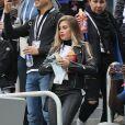 Maria Salaues, compagne de P. Pogba - Célébrités dans les tribunes lors de la demi-finale de la coupe du monde opposant la France à la Belgique à Saint-Pétersbourg le 10 juillet 2018 © Cyril Moreau/Bestimage