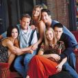 "Jennifer Aniston, Courteney Cox, Lisa Kudrow, Matt Le Blanc, Matthew Perry et David Schwimmer, les stars de ""Friends""."
