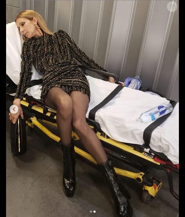 Céline Dion après le concert de Lady Gaga à Las Vegas, le 30 décembre 2018