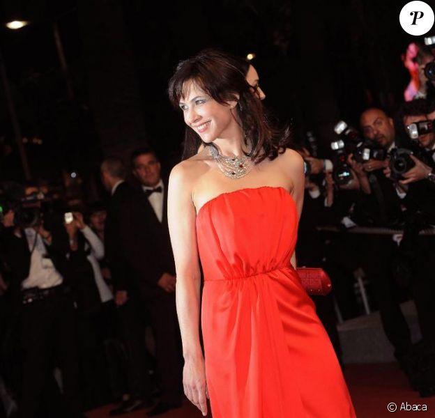 """Sophie Marceau, à Cannes, en mai 2009, lors de la montée des marches de """"Ne te retourne pas"""" !"""