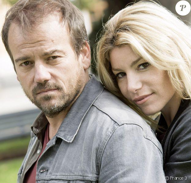 """Jean-Paul Boher (Stéphane Hénon) et Ariane (Lola Marois) en couple dans """"Plus belle la vie"""" sur France 3."""