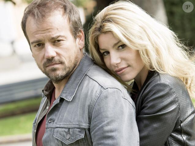 """Jean-Paul Boher ( Stéphane Hénon)  et Ariane (Lola Marois) en couple dans """"Plus belle la vie"""" sur France 3."""