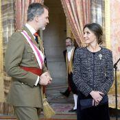 Letizia d'Espagne : Élégante complice de Felipe pour inaugurer l'année 2019