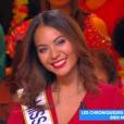 """Vaimalama Chaves (Miss France 2019) répond à une question sur sa vie amoureuse sur le plateau de """"Touche pas à mon poste"""" (C8) le 8 janvier 2019."""