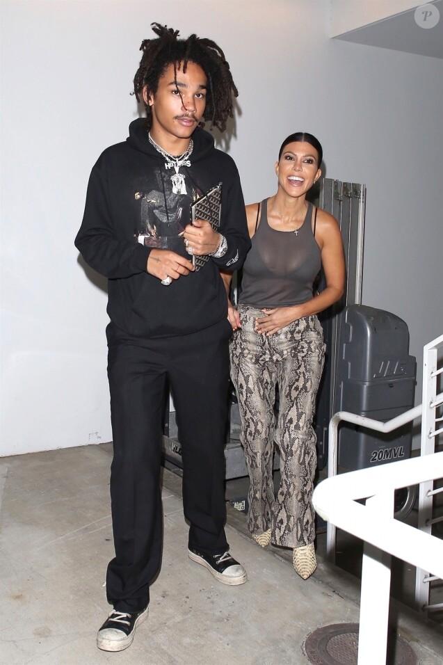 Kourtney Kardashian et Luka Sabbat à Beverly Hills. Le 10 octobre 2018