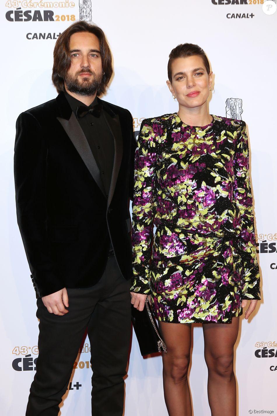 Charlotte Casiraghi et son compagnon Dimitri Rassam , Photocall lors de la  43ème cérémonie des Cesar
