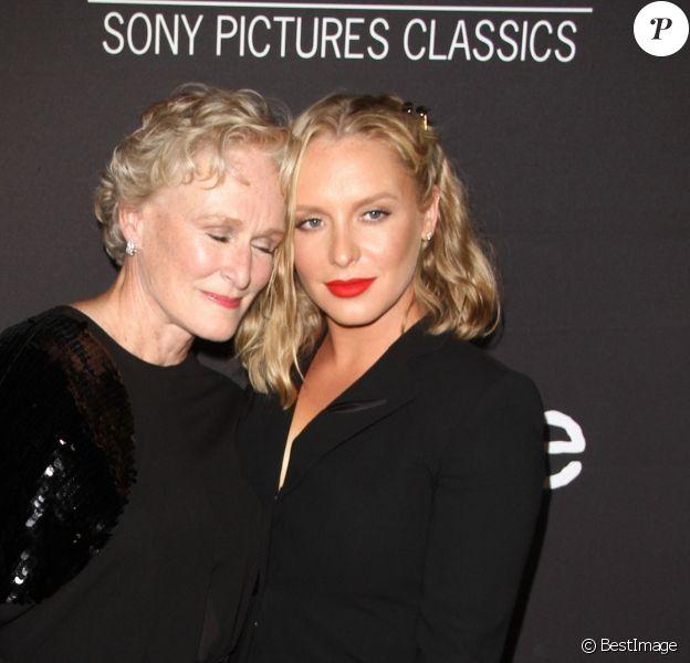 """Glenn Close et sa fille Annie Starke à la première de """"The Wife"""" à Los Angeles, le 23 juillet 2018."""