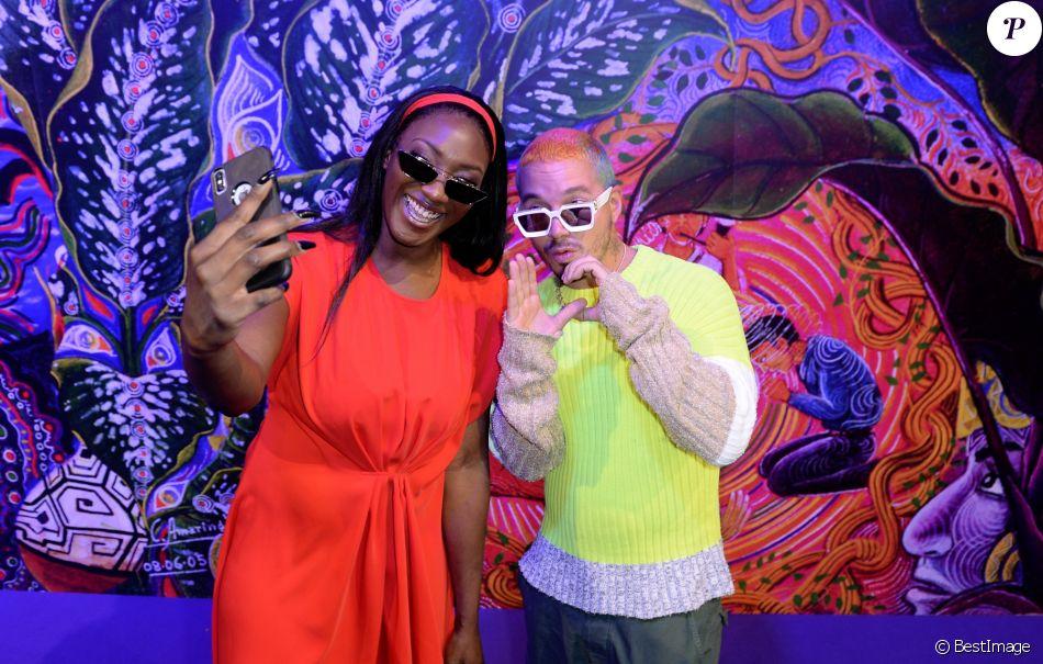 Exclusif - Aya Nakamura et J Balvin - People au défilé Kenzo Homme collection Automne-Hiver 2019/20 lors de la fashion week à Paris, le 20 janvier 2019. © Veeren/CVS/Bestimage
