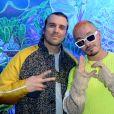 Exclusif - Feder (DJ, Hadrien Federiconi) et J Balvin - People au défilé Kenzo Homme collection Automne-Hiver 2019/20 lors de la fashion week à Paris, le 20 janvier 2019. © Veeren/CVS/Bestimage