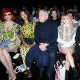 Miss Fame, Maya Jama, Sidney Toledano et Maisie Williams au défilé Kenzo PAP Homme Autmomne Hiver 2019/2020 à Paris le 20 janvier 2019. © CVS / Veeren / Bestimage