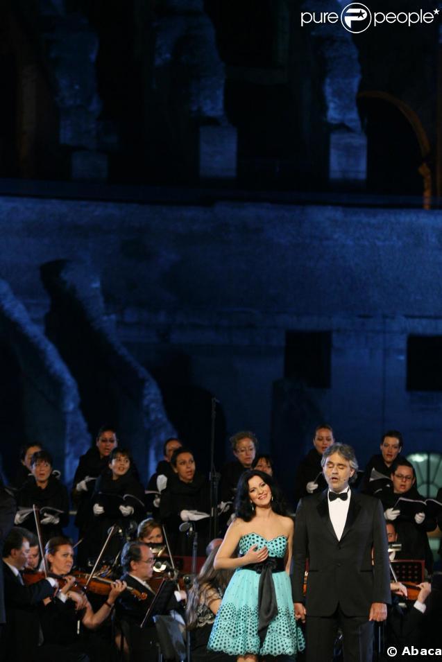 Andrea Bocelli et Angela Gheorghiu au Colisée de Rome lundi soir pour une prestation unique !