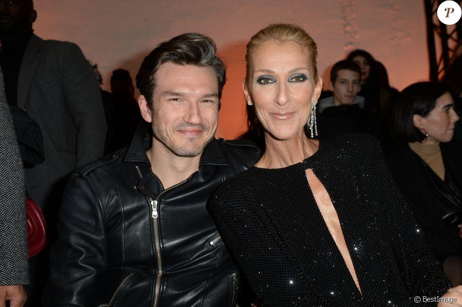 """Céline Dion et Pepe Munoz au défilé de mode Haute-Couture printemps-été 2019 """"Alexandre Vauthier"""" à Paris. Le 22 janvier 2019 © CVS-Veeren / Bestimage"""