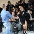 """Alexandre Vauthier, Céline Dion, Pepe Munoz, Ellen von Unwerth au défilé de mode Haute-Couture printemps-été 2019 """"Alexandre Vauthier"""" à Paris. Le 22 janvier 2019 © CVS-Veeren / Bestimage  People at the Alexandre Vauthier fashion show in Paris. On january 22th 201922/01/2019 - Paris"""