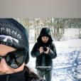 Alizée et son frère Johann Jacotey à la neige en Corse, le 26 janvier 2019.