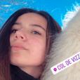 Annily et Jon Snow à la neige en Corse, le 26 janvier 2019.