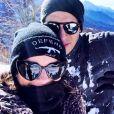 Alizée et Grégoire Lyonnet à la neige en Corse le 26 janvier 2019.