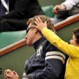 Denis Brogiart et son fils lors du tournoi de Roland Garros le 27 mai 2009