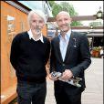 Philippe Delerm et Franck Leboeuf lors du tournoi de Roland Garros le 27 mai 2009