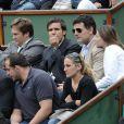 David Pujadas, Philippe Lellouche et Vanessa Demouy à Roland Garros le 27 mai 2009
