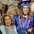 Joseph Baena et sa mère Mildred Baena - Joseph Baena reçoit le diplôme de son école à Riverside, le 28 mai 2015.