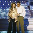 """Archives - Céline Dion et Garou - Enregistrement de l'émission """"Vivement Dimanche"""" avec C.Dion comme invitée. Le 18 mars 2002 © Patrick Carpentier / Bestimage"""