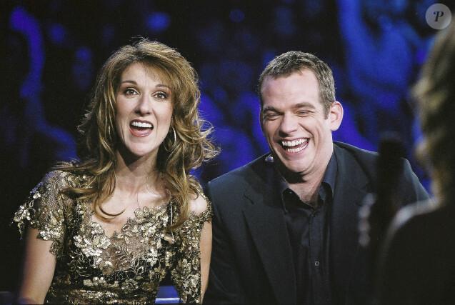 """Archives - Céline Dion et Garou - Enregistrement de l'émission """"Spéciale Céline Dion"""" sur TF1 à Paris. Le 17 mars 2002 © Patrick Carpentier / Bestimage"""