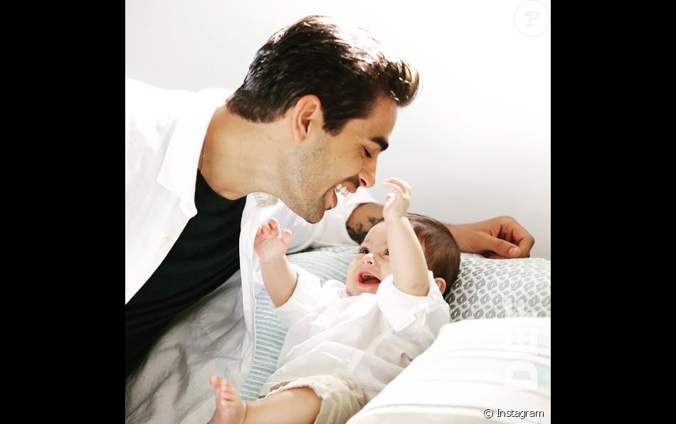 Christophe Licata et son fils Livio, le 5 février 2019.