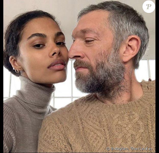 Tina Kunakey et Vincent Cassel. Octobre 2018.