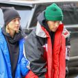 Justin Bieber et sa femme Hailey Baldwin-Bieber sont allés déjeuner au restaurant The Dutch à New York. Leur pasteur C. Lentz les a rejoint. Le 28 janvier 2019