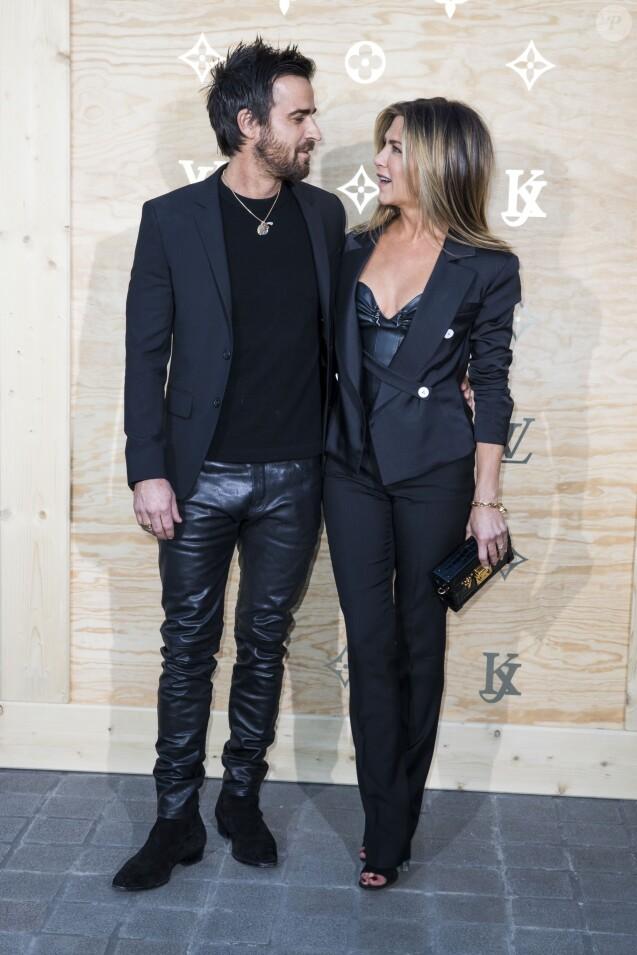 Jennifer Aniston et son mari Justin Theroux à Paris, le 11 avril 2017. © Olivier Borde/Bestimage