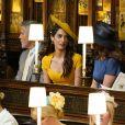 George Clooney, Amal Clooney, Silver Tree et Abraham Levy - Les invités dans la chapelle St. George pour le mariage du prince Harry et de Meghan Markle au château de Windsor, Royaume Uni, le 19 mai 2018.